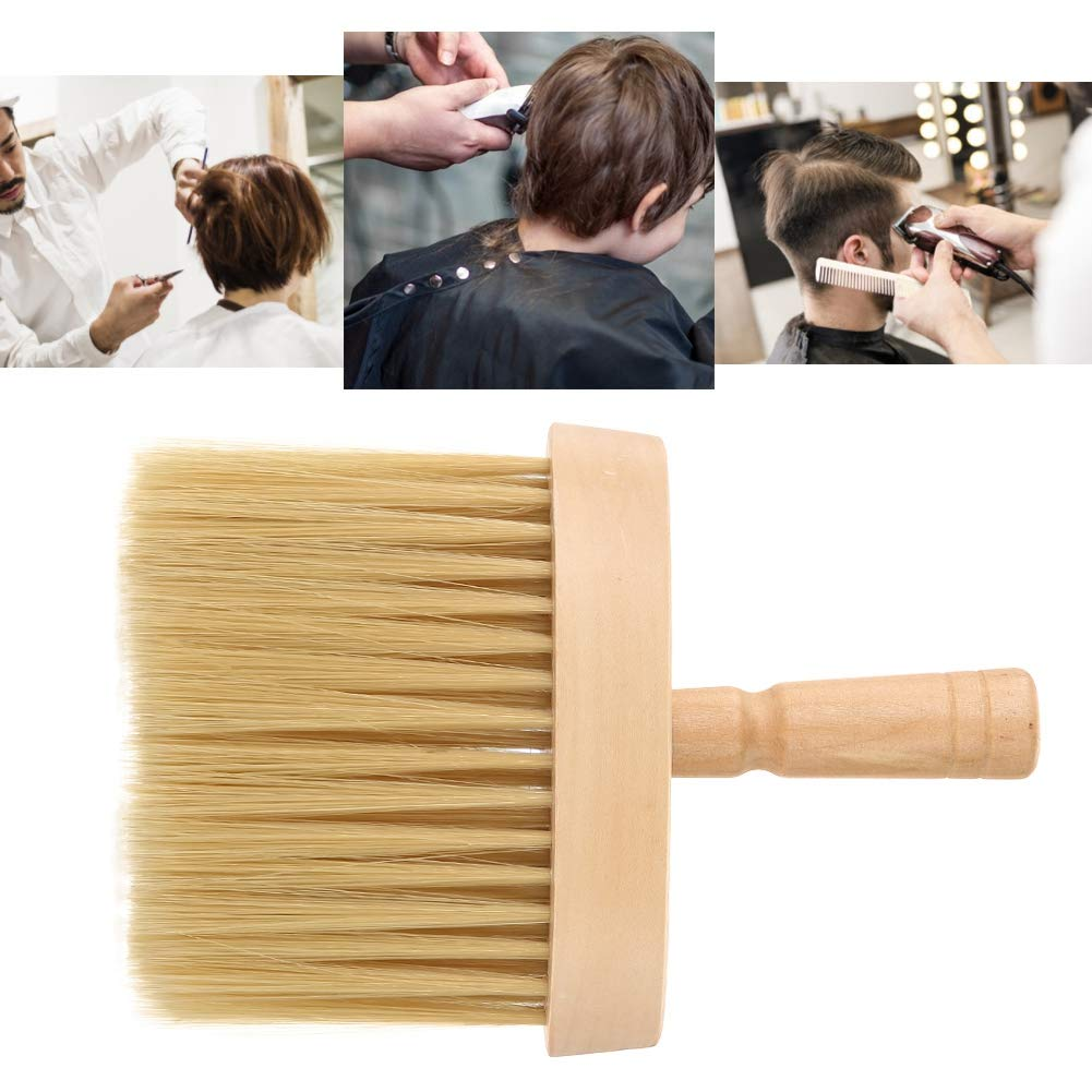 Barber Neck Dust Brush, Brush Hair Cutting Tool Neck Duster Brush Neck Face Duster Brush Salon Hair Cleaning Wooden Sweep Brush Hair Cut Hairdressing Tool
