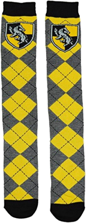 Harry Potter Hufflepuff School Uniform Knee High Socks ,Adult