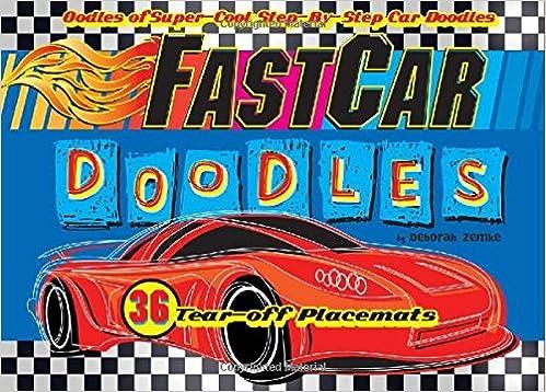 FastCar Doodles (Doodle Placemats)