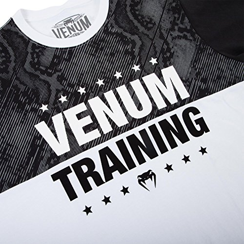 Venum T-Shirt Training - White/Black - MMA BJJ Kampfsport Fight Shirt Herren Shirt