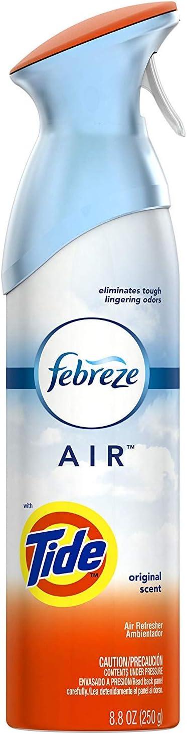 Febreze Air Freshener and Odor Eliminator Spray, Tide Original Scent 8.8 oz (1 Pack)