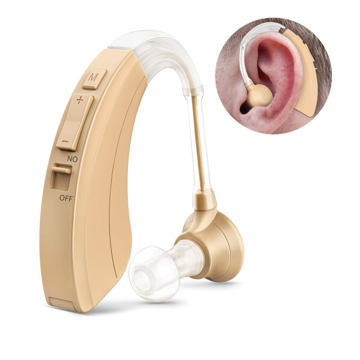 Digital Hearing Amplifier-FDA Approved Personal Sound Device with for Adults & Seniors, 500 Hour Per Battery Life and Hearing Aid Cleaning Brushed Include