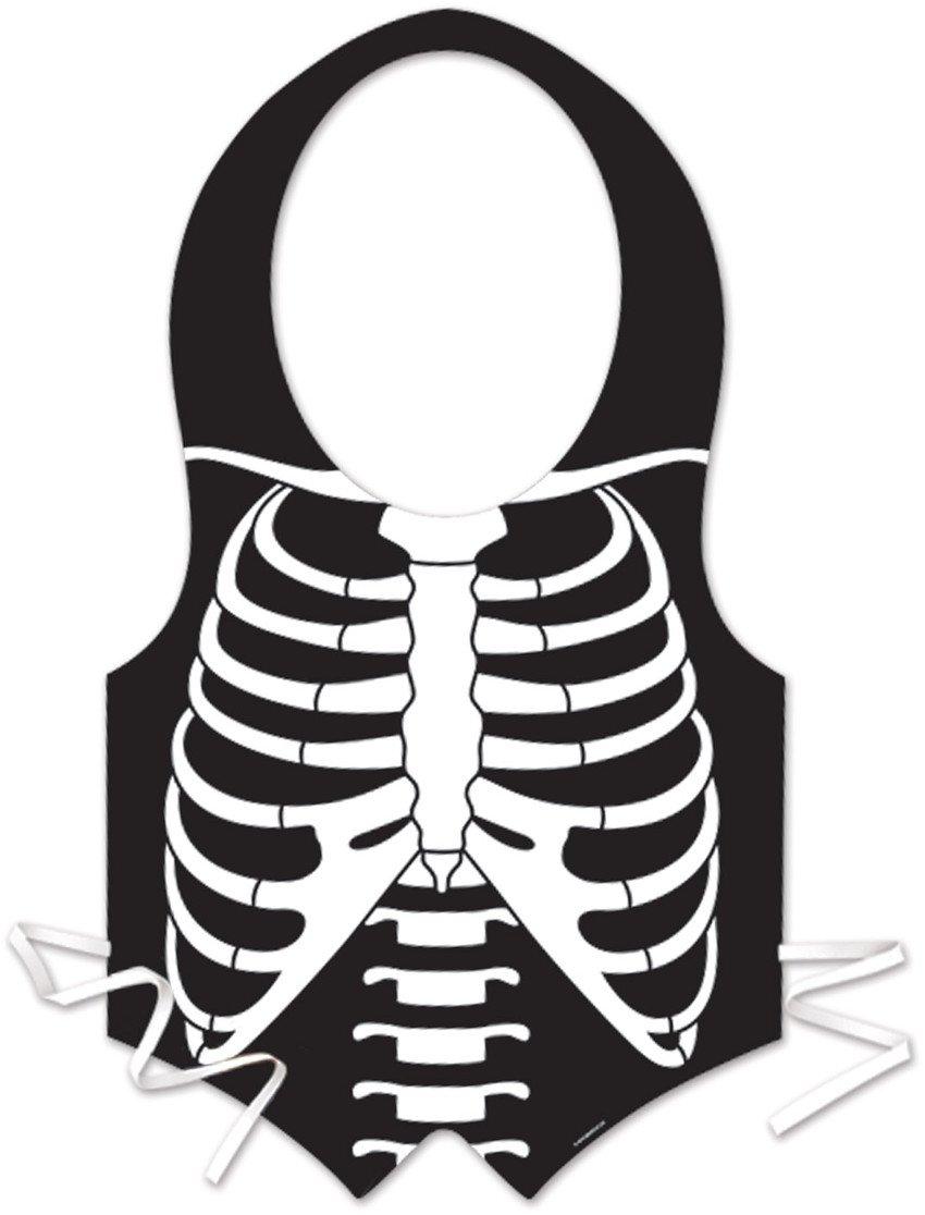 Beistle 00310 Plastic Skeleton Rib Cage Vest