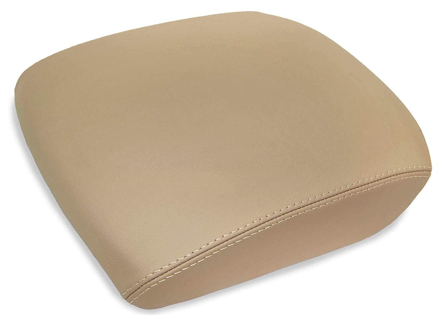 DSparts Fits For 2009-2013 Honda Pilot Leather CONSOLE LID ARMREST COVER Leather Part Only Beige