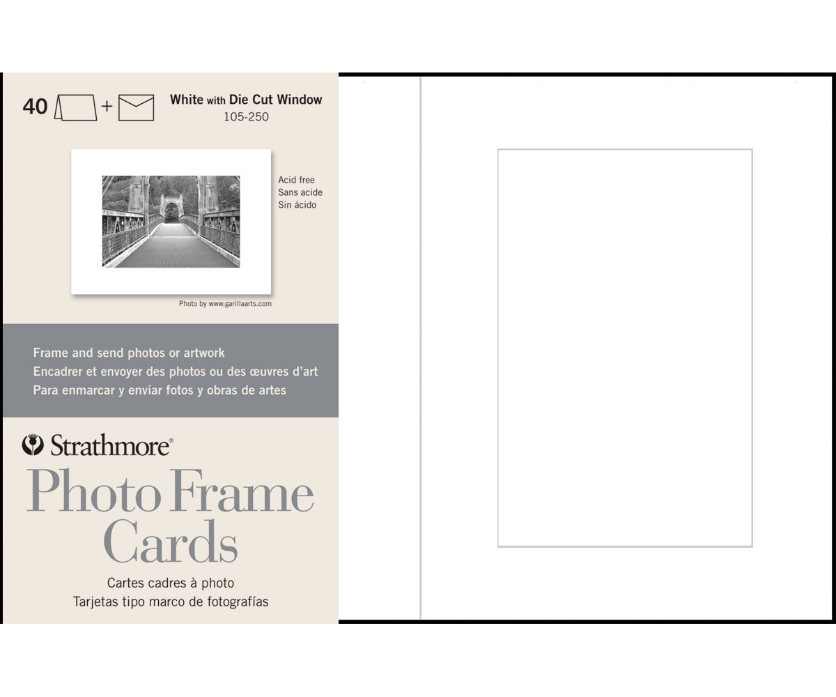 Amazon strathmore str 105 250 white photo frame 40 pack kristyandbryce Image collections