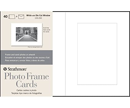 Amazon Strathmore 105 250 Photo Frame Cards White Cutout