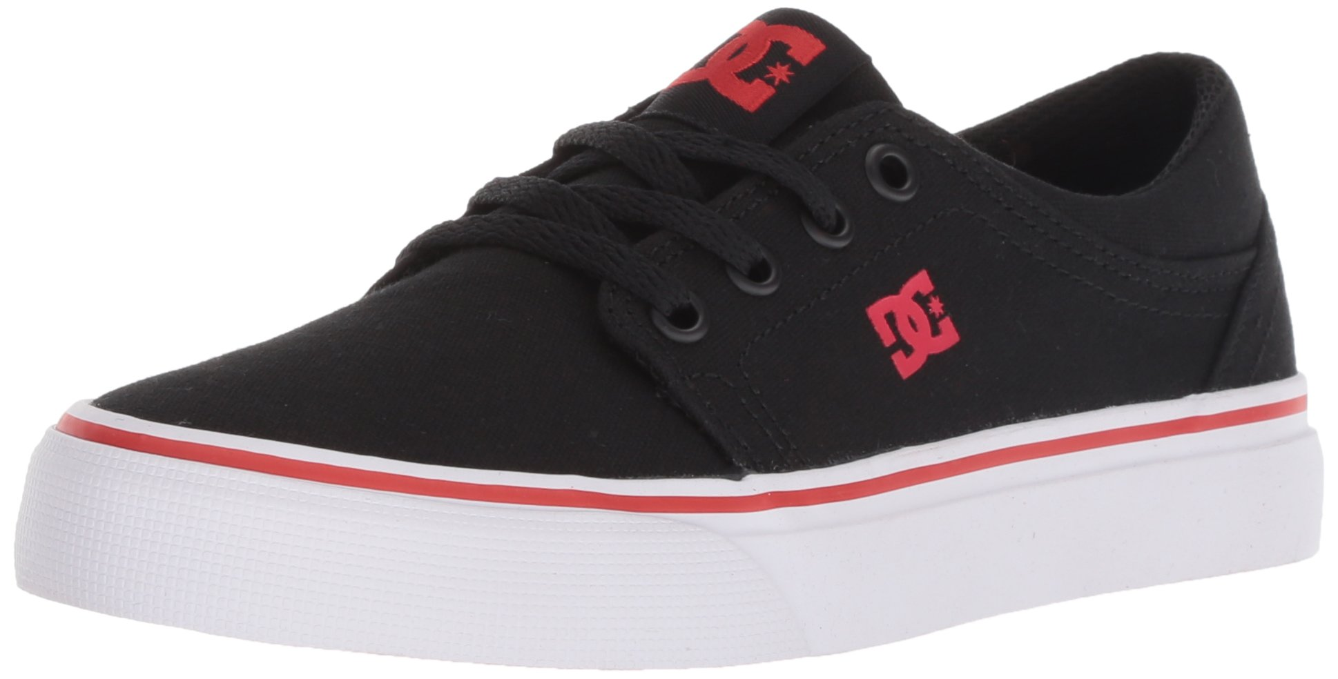 DC Boys' Trase TX Skate Shoe, Black/Athletic RED, 13.5 M US Little Kid