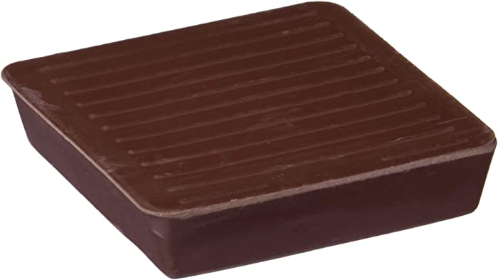 Shepherd Hardware 9074 1-5/8-Inch Square Rubber Furniture Cups, 4-Pack