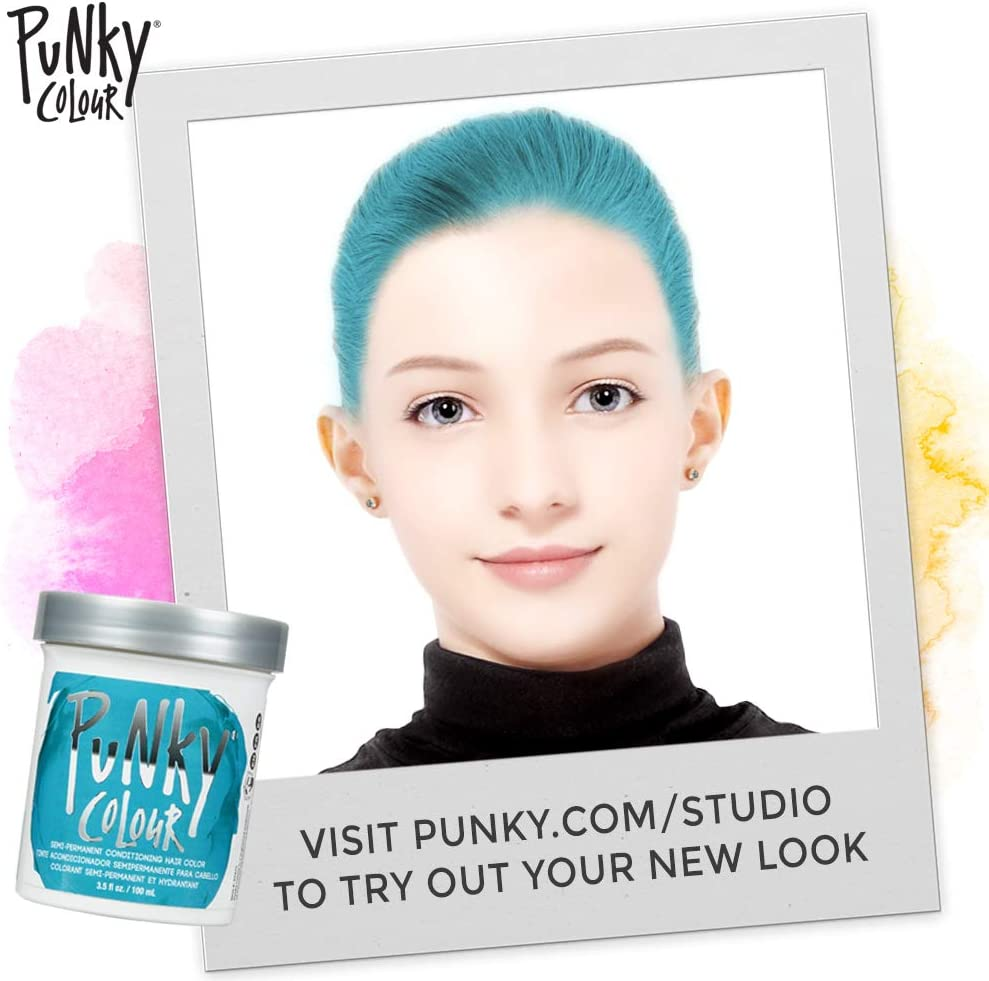 Jerome Russell Semi Permanent Punky Colour Hair Cream 3.5oz Turquoise # 1440 by Jerome Russell