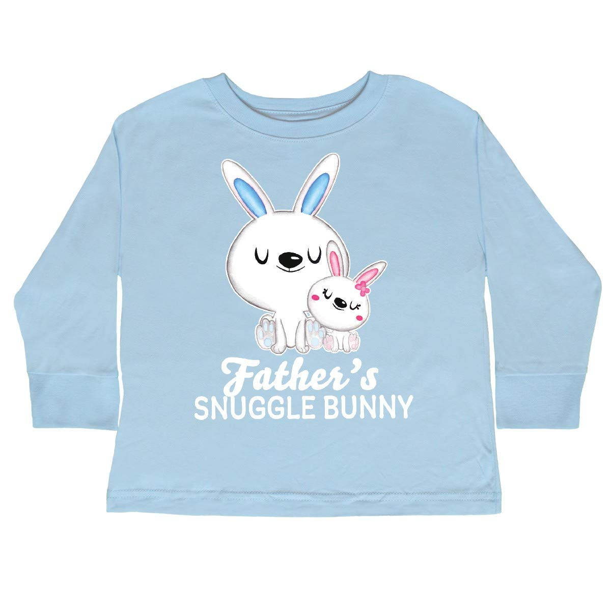 inktastic Fathers Snuggle Bunny Easter Toddler Long Sleeve T-Shirt