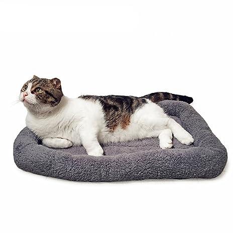 Yonfan - Colchoneta de Forro Polar Suave para Mascotas, Gatos y Perros pequeños, Lavable