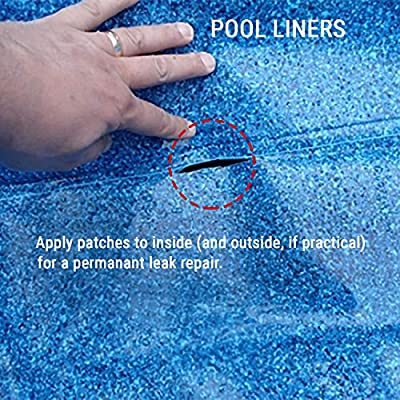 Spa Bond Hot Tub & Pool Leak Seal Patch Kit - Clear Ultra-Adhesive Waterproof Repair Fix for Vinyl, PVC, Acrylic: Garden & Outdoor