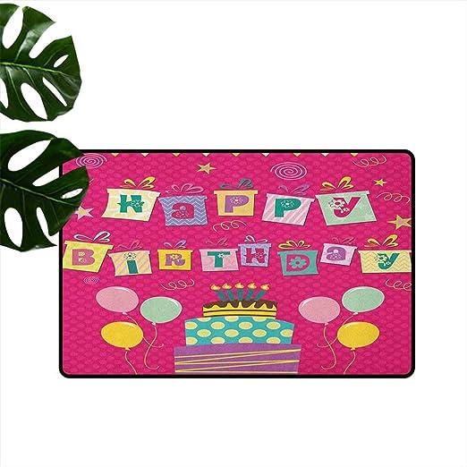 Anzhutwelve - Felpudo para cumpleaños de niños, Letras ...