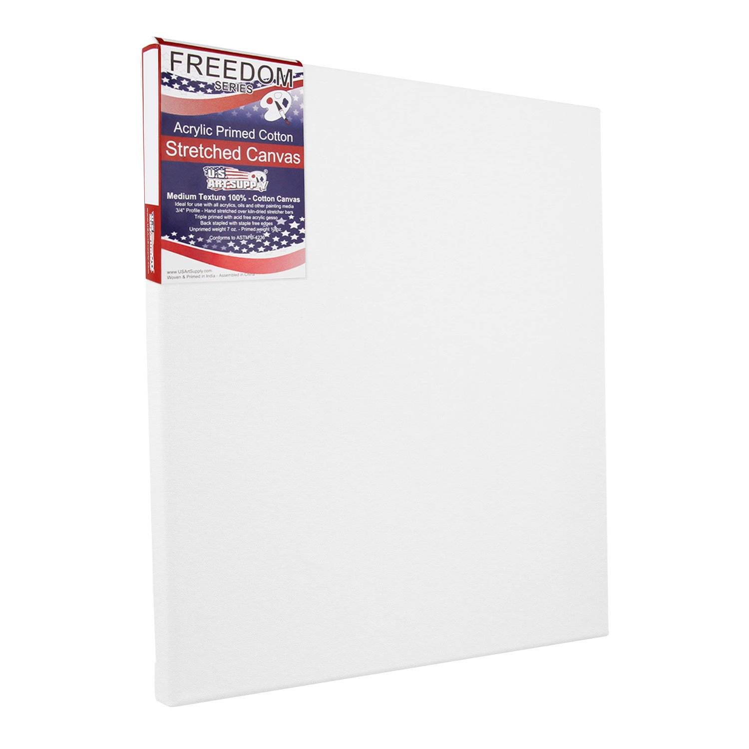 US Art Supply 36 X 36 inch Professional Quality Acid Free Stretched Canvas 6-Pack - 3/4 Profile 12 Ounce Primed Gesso - (1 Full Case of 6 Single Canvases) by US Art Supply (Image #1)
