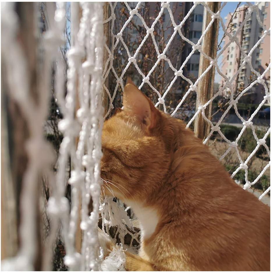 Ezoon Red de seguridad duradera para gatos para balcón, ventanas, escaleras, vallas, red de protección de mascotas, malla de nailon grueso para escalada de plantas con bridas de fijación: Amazon.es: Productos para