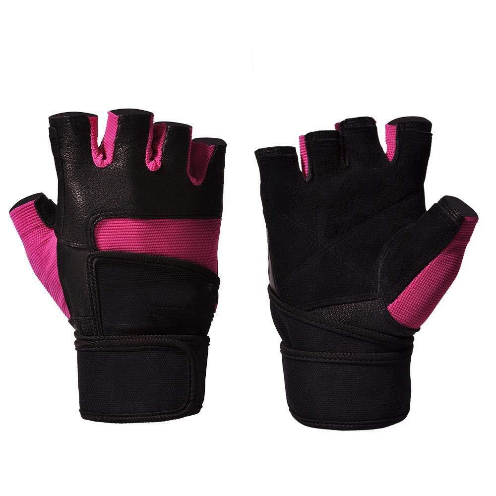 Yunfeng Fitness-Handschuhe Lange Handschuhe Handgelenk Übung Männer und Frauen Ausrüstung Training Anti-Rutsch Gewichtheben Halbe Fingerhandschuhe