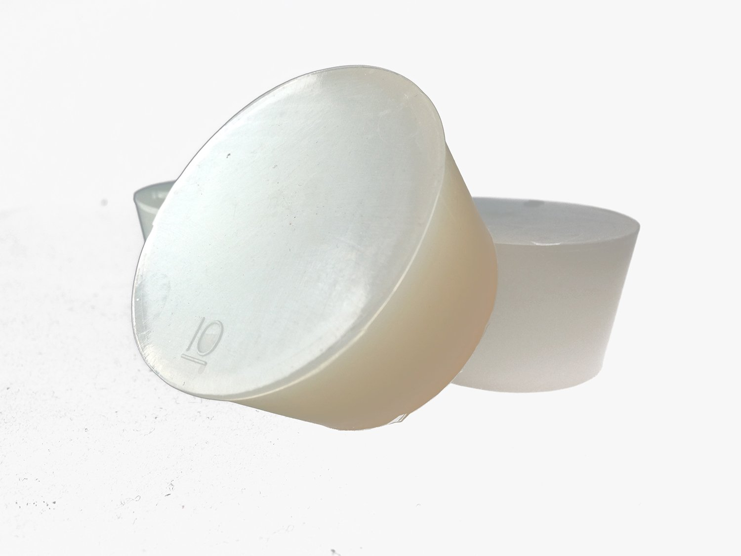KMICO #10 Clear Silicone Rubber Stopper