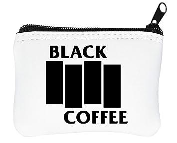 Black Coffee Logo Billetera con Cremallera Monedero Caratera ...