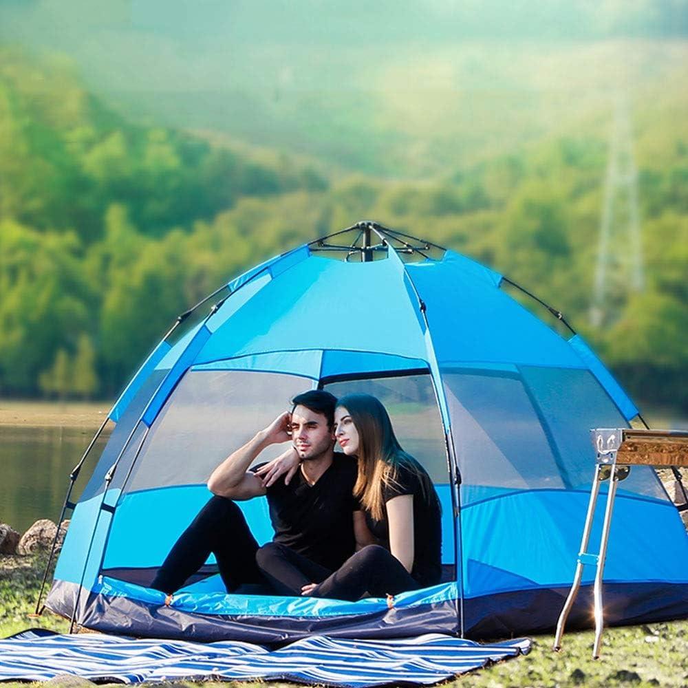 ZR Tienda automática de Lluvia Exterior para engrosar 4-8 Personas Individual Camping Doble Carpa Cuatro Estaciones Tienda Azul Verde Amarillo (Color : Azul) Verde