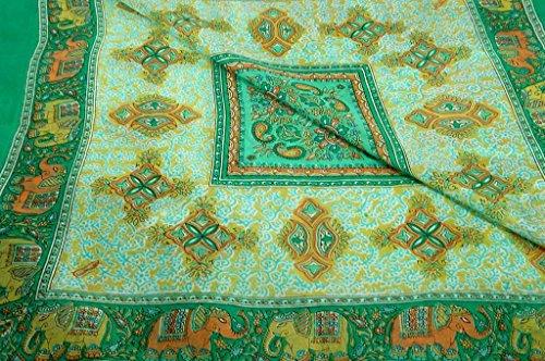 Classic Gamme Paisley Écharpe Carre 100% Soie de Mûrier Motif Dyal Jade de Pashmina & Silk