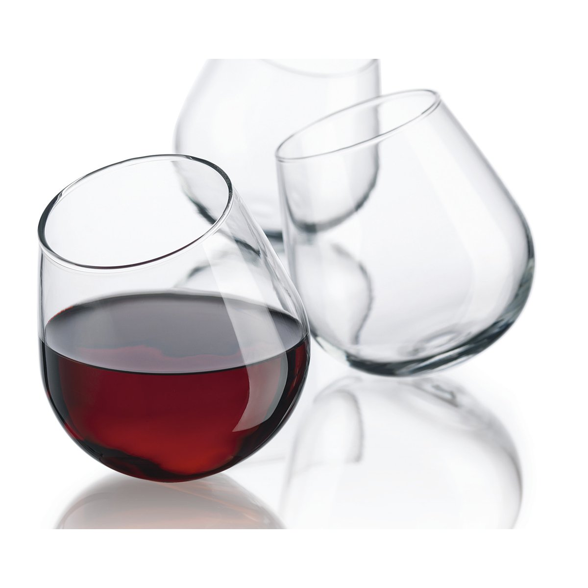Amazon.com: Home Essentials S/4 Roly Poly Wine Glass: Home & Kitchen
