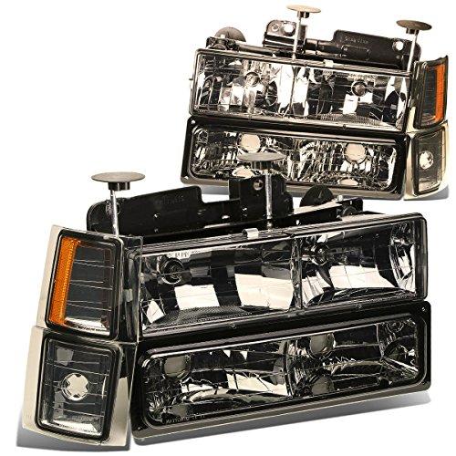 For Chevy C10 C/K-Series GMT400 Facelifted 8-PC Smoke Lens Amber Corner Headlight+Bumper+Corner Lights Kit