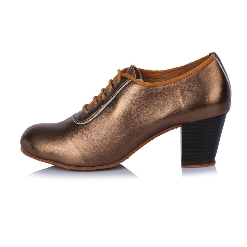 YFF Les Femmes Professionnelles Chaussures Talon Bas Latin Dance Street pour l'enseignement de Tango Chaussures