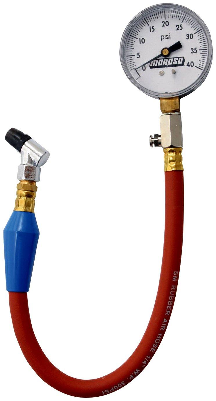 Dial Type 0-15 psi Moroso 89550 Tire Pressure Gauge