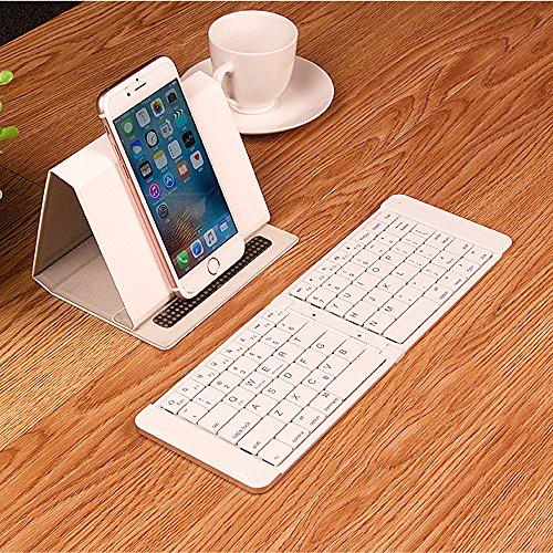 Homey Wireless Folding Keyboard, Bi-folding Bluetooth