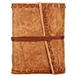 Rustic Town Handmade Leather Journal Diary Notebook Poetry Gifts Artist Brown