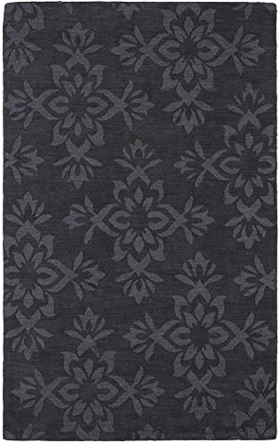 Kaleen Rugs Imprints Classic Hand-Tufted Area Rug, Charcoal, 8 x 11
