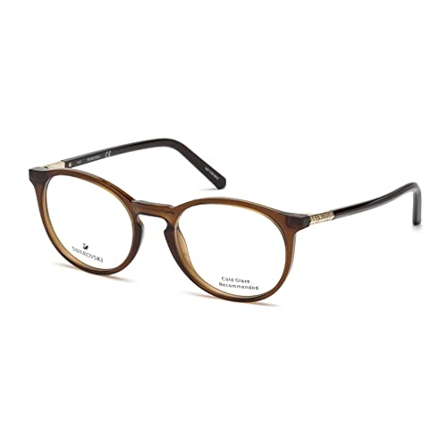 411507b4a1b0 Swarovski SK5217 Eyeglasses 048 Shiny Dark Brown 50-19-140  Amazon.co.uk   Shoes   Bags
