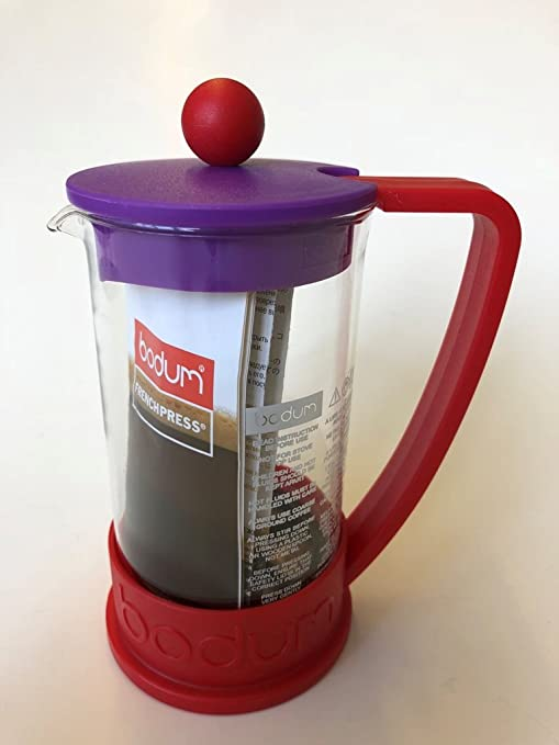 Bodum Brazil – Cafetera de émbolo para 3 tazas, 0,35 l – Rojo/violeta: Amazon.es: Hogar