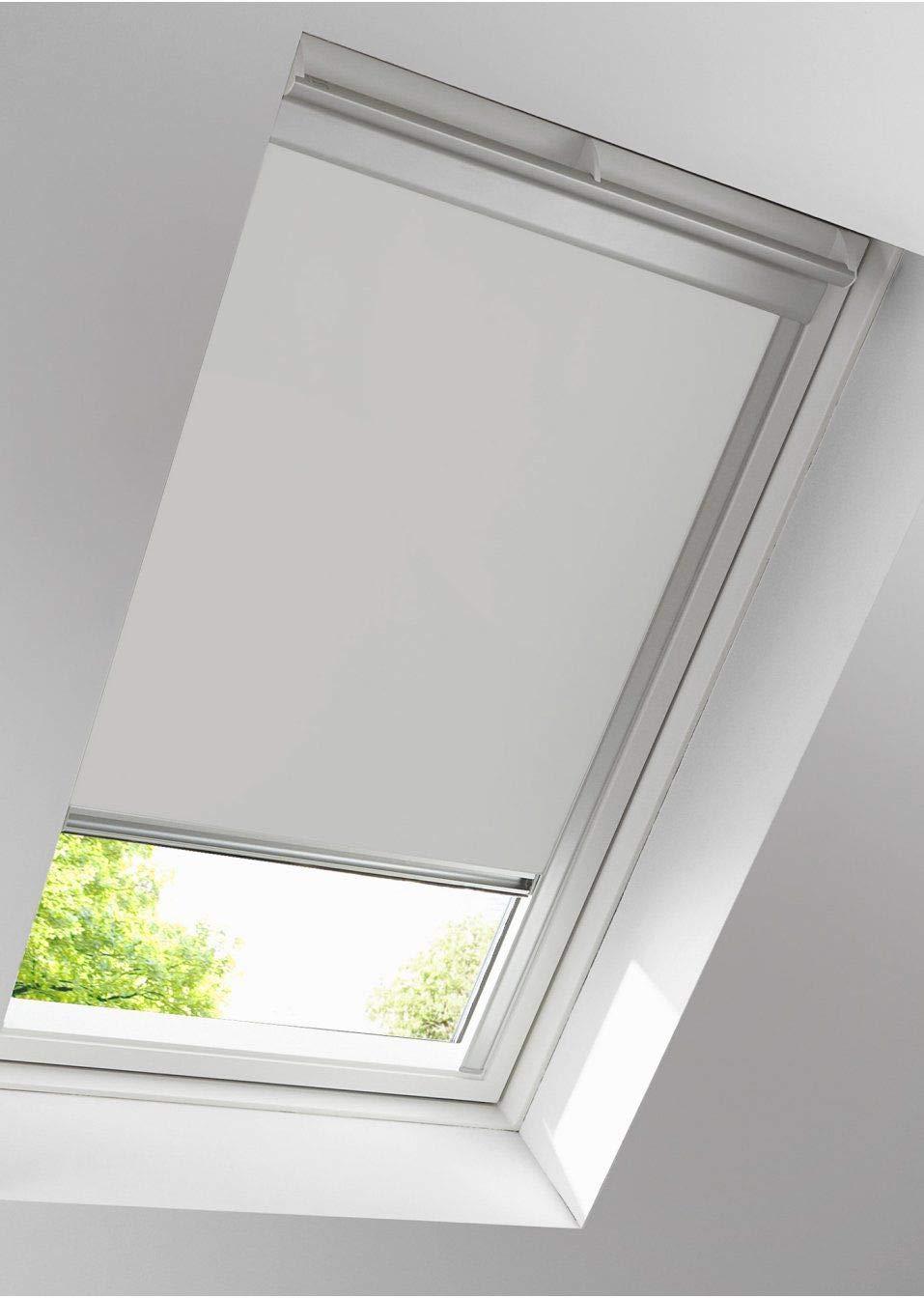 VERTICALUX Sonnenschutz - Original Rollo für Dachfenster Skylight Skylight Skylight (Uni DUNKELBLAU, 66x98) e9b587