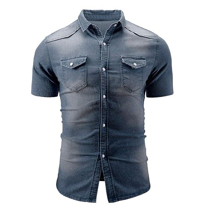 Camisa de hombre, Camisa manga corta hombre Sudadera casual Camiseta casual hombres Sudadera slim-fit para hombre camiseta manga corta hombre: Amazon.es: ...