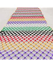 Child Safety Stairs Net Colorful Outdoor Child Safety net Stairs Balcony Anti-Fall net, Outdoor Garden Fence net Construction Well Isolation net Decoration net Hammock Swing (Size : 2 * 2M(7 * 7ft))