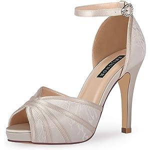 31efd501039b7 Amazon.com | Wedopus WD7008 Women Peep Toe High Heel Platform Ankle ...