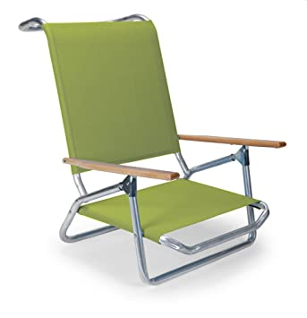 Superbe Telescope Casual Light And Easy Low Boy Folding Beach Arm Chair, Lime