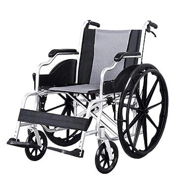 WLD - Silla de ruedas ligera, plegable, marco de aluminio ...