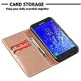 Funyye Rose Gold Premium Wallet Cover for Samsung