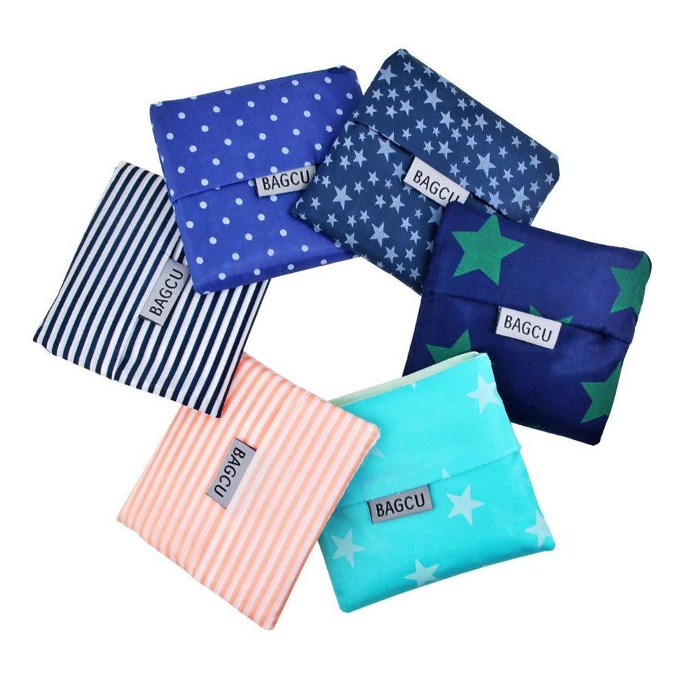 納得できる割引 LoveHome折りたたみショッピングバッグ再利用可能な6パック Bags – 21.6