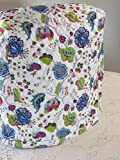 kitchenaid mixer cover blue - KitchenAid Mixer Cover - Blue Red & Green Morocco Design with Royal Blue Reverse - Reversible Quilted Kitchen Appliance Dust Cover - Size and Pocket Options