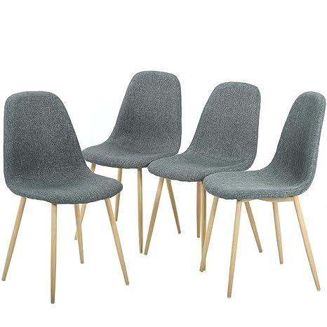Amazon.com: Sillas de comedor sillas de comedor silla de ...