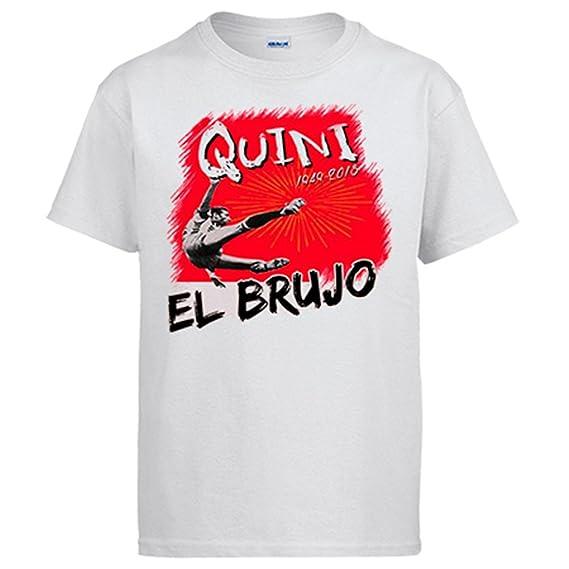 Diver Camisetas Camiseta Homenaje a Quini el Brujo del Fútbol: Amazon.es: Ropa y accesorios