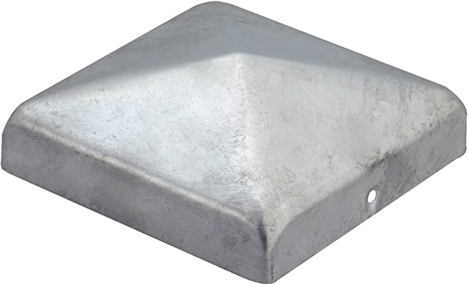 Unbekannt Pfostenkappe Zaunkappe Abdeckkappe Pyramide Edelstahl 71 x 71 mm 1