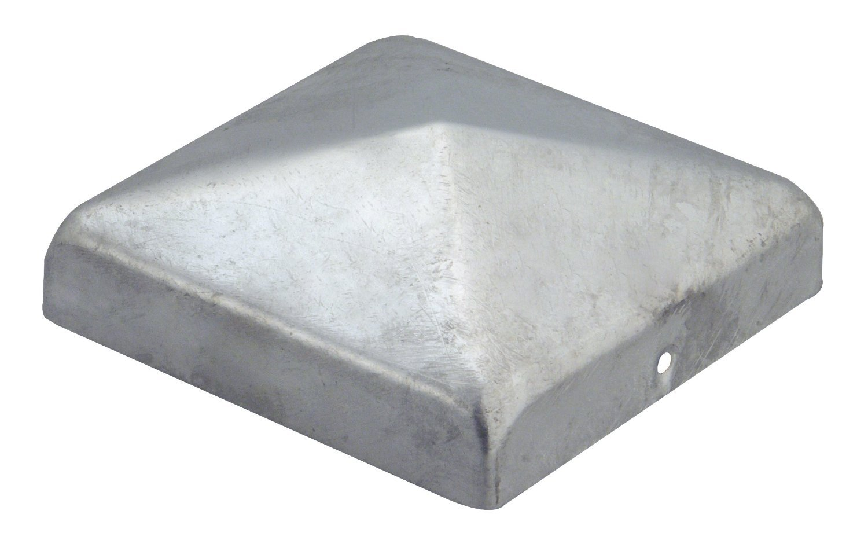 Pfostenkappe Zaunkappe Abdeckkappe Pyramide verzinkt 91 x 91 mm 1