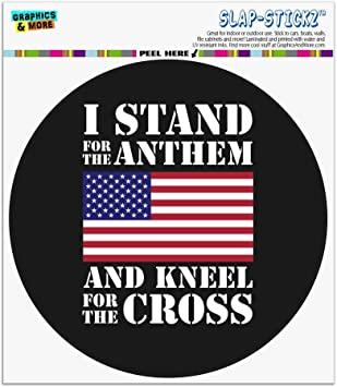 I Stand for USA American Flag Decal Sticker Pack Stand for National Anthem