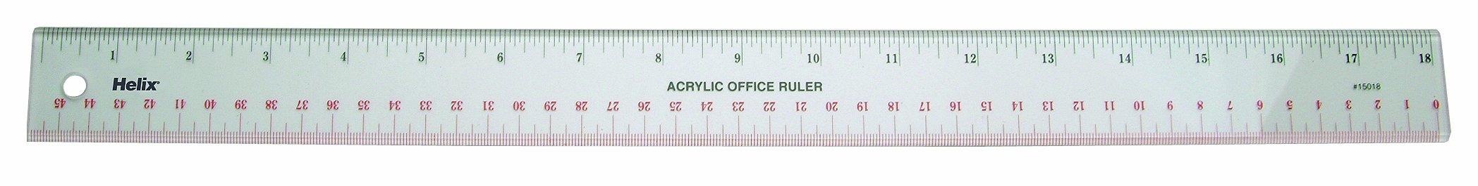 Helix Acrylic Office Ruler 18 inch / 45cm (15012)