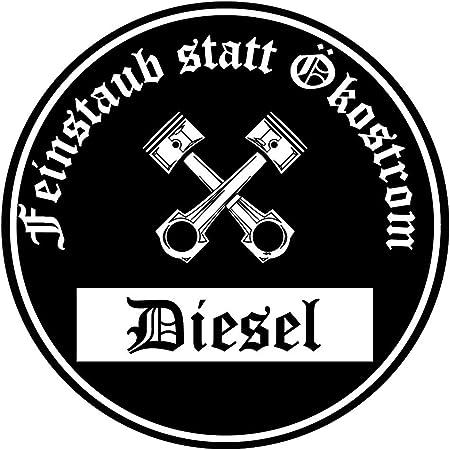 Feinstaub Statt Ökostrom Aufkleber Sticker Schwarze Umwelt Plakette Diesel Jdm 2 Stück Fun Lustig Umweltzone Fahrverbot Autoaufkleber Lkw Auto