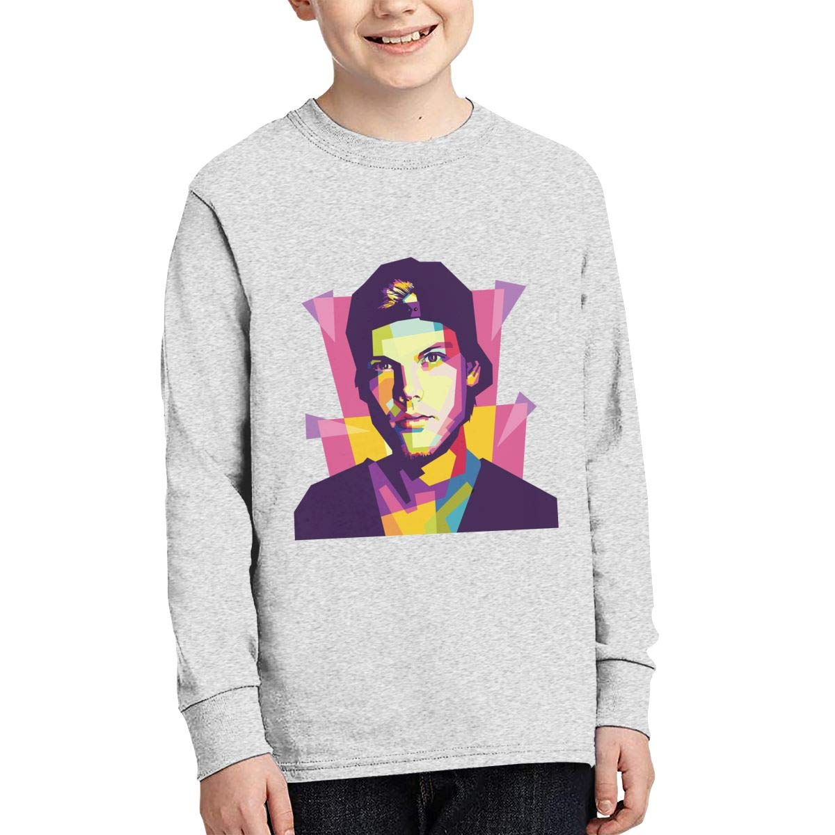 RhteGui Avicii Boys /& Girls Junior Vintage Long Sleeve T-Shirt Black